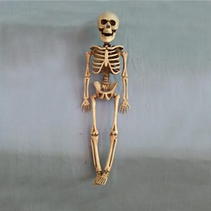 Simpatico 40 cm Horror Movable Skull Skeleton Halloween Puntelli Evil Party Favors Vigilia di Halloween Spaventoso Decorazione di Halloween