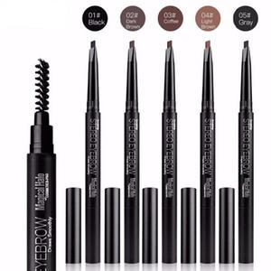 Hot 12 teile / los Professionelle Automatische Augenbrauenstift Liner Eye Brow Pen mit Pinsel Kosmetik Makeup Tools