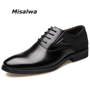 Misalwa Plus Size Sapatas de Vestido dos homens Sapatos de Negócios Dos Homens Sapatos Formais Elegantes Gentis Homens Oxfords Transporte da gota Livre