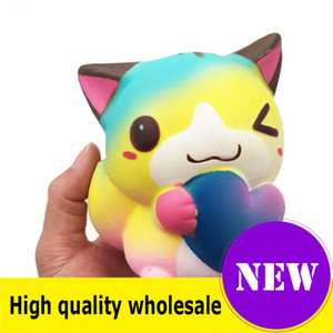 Squishy Toys Love cats Kawaii Animal Slow Rising Jumbo Squeeze Charms per cellulare Lega lo stress Regalo per bambini squishies