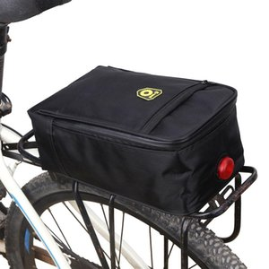 Işık Ile bisiklet Arka Koltuk Bagaj Çanta Gözyaşı Dayanıklı Bisiklet Bisiklet Çanta Çanta Arka Bisiklet Panniers Dağ Aksesuarları S3