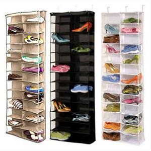 Обуви стойки хранения организатор держатель складной висит дверь шкаф 26 карманный бытовая мебель, Мебель для гостиной обуви стойку обуви кабинет