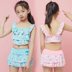 Lo nuevo Lindo Estrella de Mar Impreso Verano Niños Split Traje de baño de dos piezas Chicas Bikini Niños Bikini Hermoso traje de baño para niños