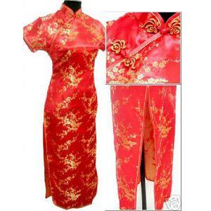 NORIVIIQ Chinois Traditionnel Costumes Costumes Femmes Serré Robe Moulante Cheongsam Tang Costume DragonPhoenix Imprimer Split Sexy Kimono