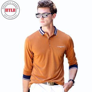 HTLB 2018 Marka Bahar Sonbahar Erkekler Busines Casual Katı Uzun Gömlek erkek Uzun Kollu Camisa Gömlek Erkekler En Kaliteli