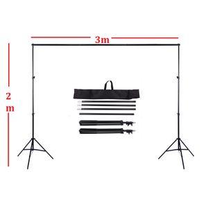 2 x 3m 6.6ft X 9.8ft Einstellbare Hintergrund Stand Crossbar Kit Set Fotografie Hintergrund Support System für Muslins Backdrops Fotostudio