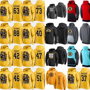 Boston Bruins Hoodies Jersey 33 Zdeno Chara 37 Patrice Berg eron 40 Tuukka Rask 47 Torey Krug 88 David Pastrnak Camisetas de hockey personalizadas