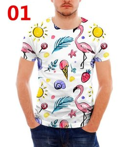 Flamingo 3D Impresso Mulheres / homens Casual Mangas Curtas T-shirts
