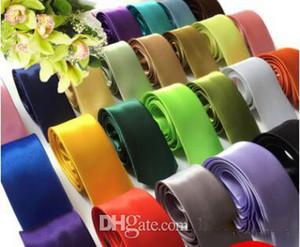 2019 شحن مجاني رجل ربطة العنق الساتان التعادل الشريط سوبر رخيصة الزفاف التبعي عادي الصلبة اللون التعادل الرقبة للعريس