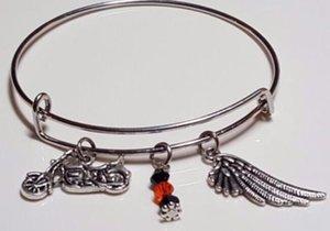 Vintage Argent Moto Angel Wing Cristal Perles Charmes Extensible Fil Bracelet Bracelet De Manchette De Mariage Pour Les Femmes Bijoux Accessoires NOUVEAU