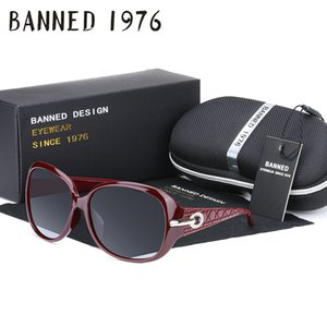 BANNED 1976 Gradient Sunglasses Women Polarized Elegant Rhinestone Ladies Designer Sun Glasses Eyewear Accessories