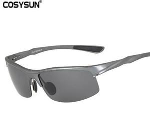 COSYSUN Aluminium polarisierten Sonnenbrille-Männer Sports Sun-Gläser Driving Gläser Spiegel-Schutzbrille Eyewear oculos de sol CS0213