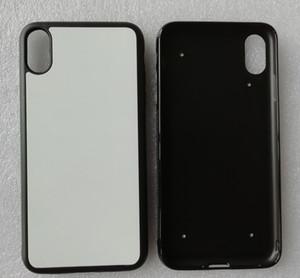Per iPhone 11 pro Max XS Max XR / iphone 5 6 7 8 più morbida caso di TPU gomma + di calore in alluminio metallo stampa sublimazione piatto 100pcs / lot