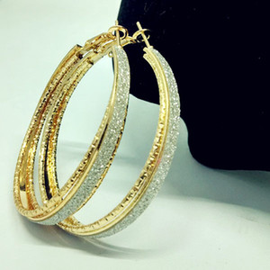 뜨거운 판매 새로운 아름 다운 패션 스크럽 원 귀걸이 진주 귀걸이 패션 쥬얼리에 대 한 무료 배송 HJ184