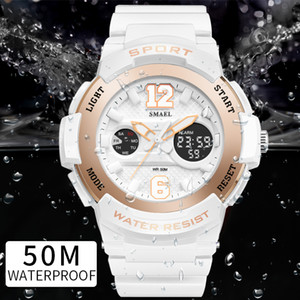 Sport Watches for Women SMAEL Ladies Watches Casual LED Digital White Clock Woman Elegant relojes mujer Women Watches Waterproof Y18102310