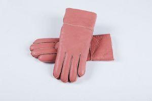Ücretsiz Kargo - Klasik kalite parlak deri bayan deri eldiven Kadın yün eldiven% 100 garantili kalite