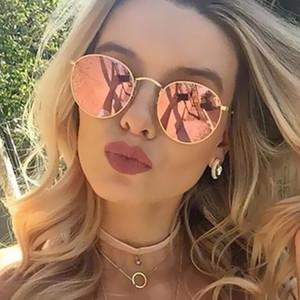 Round Sunglasses Women Classic Rose Gold Fashion Steampunk Sun Glasses Men UV400 Rayed Mirror Female Small
