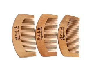 En gros 500pcs haute qualité Portable naturel pêche bois peigne barbe peigne poche peigne