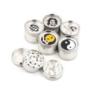 허브 분쇄기 담배 향신료 크래커 3 레이어 30mm 아연 합금 금속 허브 분쇄기 디스플레이