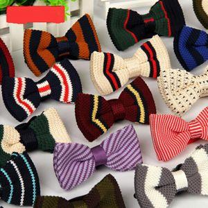 Corbata de los hombres de punto Bowtie Bow Tie 55 Color Pre-atado Tuxedo ajustable Bowtie Wedding Bow Ties Envío gratis 50 unids