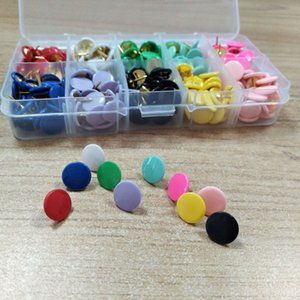 300pcs set Painted Sculpture Push Pins, 10 colors mixed each color 30 pcs good for Home, Office and School