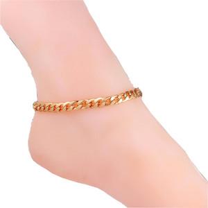 Anklet Summer Jewelry Foot Bracelet On The Leg Gold Color Bracelet Ankle Link Chain Anklet Bracelets For Women