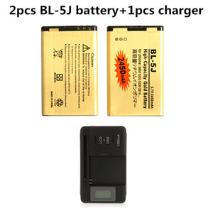 2x 2450mAh бл-5C BL5C бл 5C золото замена батареи + универсальный зарядное устройство для Nokia 1208 1209 1255 1280 1315 1600 1616 1650 ect