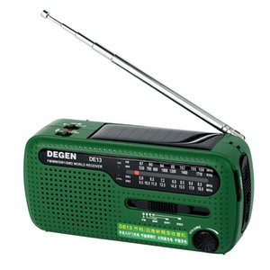 Receptor do mundo do rádio 320mAh da emergência das energias solares do dínamo da manivela do rádio FM DE15 de Degen DE13