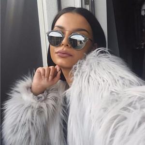 2018102406 Elegant Furry Fur Coat Women Fluffy Warm Long Sleeve Female Outerwear Autumn Winter Coat Jacket Hairy Overcoat