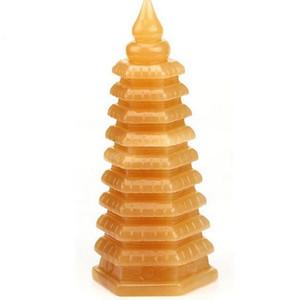 직업 타운 하우스 가구를 돕기 위해 자연 베이지 옥 돌 Wenchang 타워 장식품