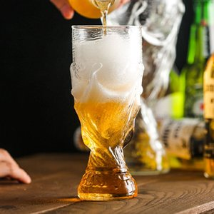 Football World Cup Soccer Beer Stein Whiskey Vodka Bar Beer Glass Mug Crystal Whiskey Wine Glasses Car Cups 60pcs OOA5088