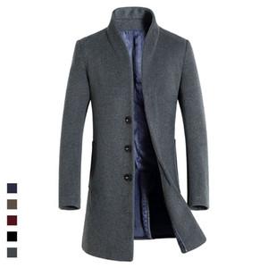 HAMPSON LANQE 2017 Uomo classico lungo di alta qualità che indossa l'autunno misto lana