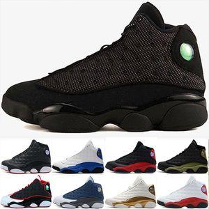 Ücretsiz kargo 13 13 s erkekler basketbol ayakkabı Hiper Kraliyet zeytin erkek Sneakers Chicago siyah kedi bred DMP O Got Play ...