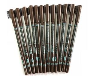 브러시 더블 기능 아이 브로우 연필 Eyeliner 펜 P10021와 도매 48pcs / lot Menow 방수 눈썹 연필 무료 배송