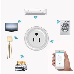 El enchufe inteligente de WiFi toma de corriente con control remoto funciona con Echo Alexa Google Home No Hub Requiere un interruptor de tiempo para Smartphone Android IOS