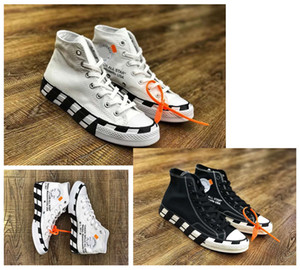 حار بيع أحدث أبيض أسود conve التزلج أحذية كل نجم مصمم رجل إمرأة السامي الأعلى قماش سكيت أحذية الجري أحذية size35 ~ 44