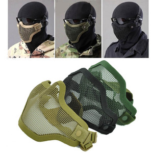 Strike Çelik Metal Mesh maske Koruyucu 2G Airsoft maskesi çekim için ayarlanabilir Elastik Kayış ile avcılık paintball