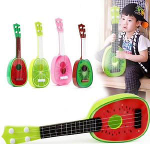 2018 HOT new Kids Fruit Ukulele Ukelele Uke Small Guitar Musical Instrument Toy Gift Fruit Guitar