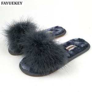 FAYUEKEY 2018 nuovi 5 colori primavera estate autunno inverno casa pantofole in cotone peluche donne coperta \ piano scarpe piatte spedizione gratuita