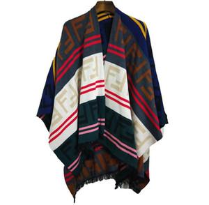 Высокое качество свободные трикотажные шерстяные одеяла горячие продать женщин Мыс и пончо письмо кисточки плащ пончо Мыс верхняя одежда пальто Шаль Бесплатная доставка