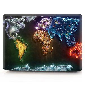 Map-6 لوحة زيتية لأبل ماك بوك اير 11 13 Pro Retina 12 13 15 inch Touch Bar 13 15 Laptop Cover Shell