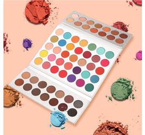 Heiße Verkaufs-Schönheit Verglaste 63 Lidschatten-Palette Farbe imprägniern Schimmer-Funkeln-Augen-Schatten-Highlight Palette Matte Lidschatten