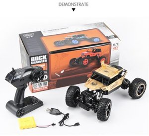 Off-road vehicleAlloy 4WD cross country climbing car, big foot remote control car, children's electric toy boy racing gift