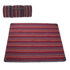 300 * 300 cm 270 * 270 cm 5 Cor Folk Costume Algodão Ao Ar Livre Camping Praia Piquenique Cobertor Mat Dobrável-À Prova de umidade Pads