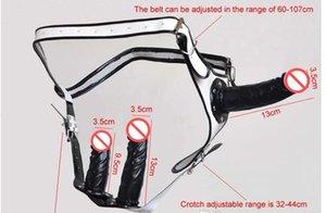 Briefs Black Dildo dentro Novo Soft 3 pcs dildos dildo com adultos ajustáveis emborrached underpantsjouets calcinha calça calcinha sexuelstoys vvit