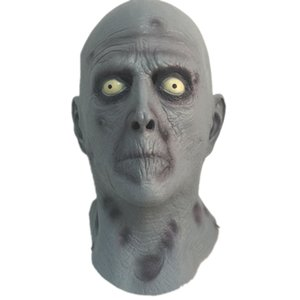 Horror Velho Látex Mask Terror Máscaras de Borracha Cabeça Azul Masculino Halloween Carnaval Masquerade Zombie Cosply Partido Fancy Dress Adereços