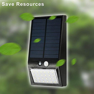 Garden Solar Light 24 LED 300lm Wall Light Outdoor Waterproof Security PIR Motion Sensor LED Lights For Garden Yard Home