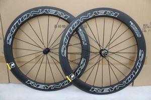 Elegido 7387 bicicleta de carretera ruedas cubos de 60 mm carbón del remachador 700C bicicleta llena del carbón juego de ruedas