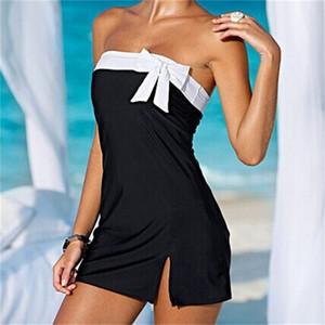 Femme biquíni one piece ternos mulher swimsuit lady swimwear sexy capa ups férias praia bownot dress bow 8ys v