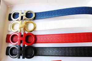 Vendita calda nuova moda riem 4 colori grande fibbia in pelle cinture da uomo donna cinture per regalo